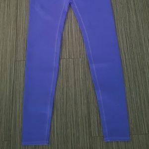 ALO Yoga Pants - Alo airbrush legging - electric blue glossy
